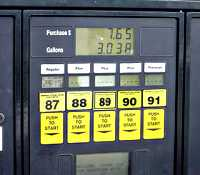 Gas Pump with octane selection